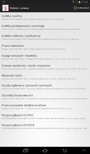 Polskie Ustawy (Kodeksy) screenshot