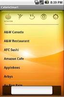 Screenshot of CalorieSmart Calorie Tracker
