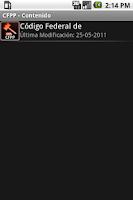 Screenshot of CFPP – Código Federal de Proce