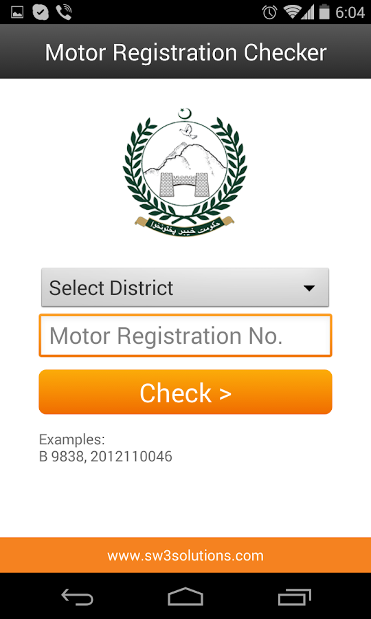 Motor Registration Checker Android Apps On Google Play