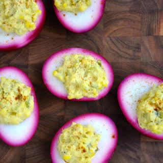 Pickled Deviled Eggs.