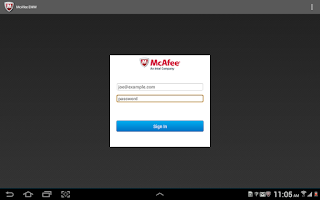 Screenshot of McAfee EMM