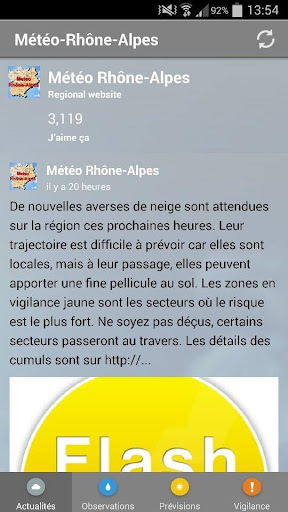 Météo Rhone-Alpes