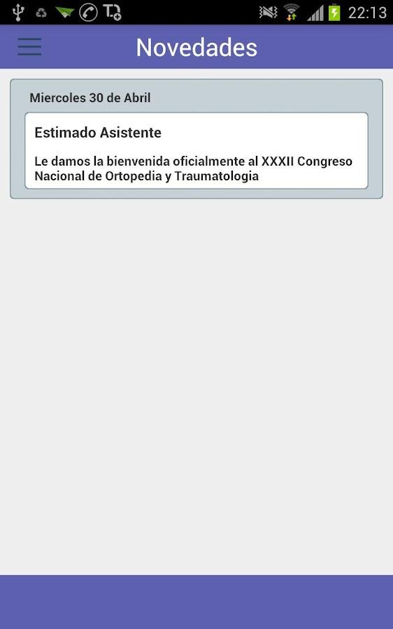 Xxxii congreso de ortopedia aplicaciones de android en for W de porter ortopedia