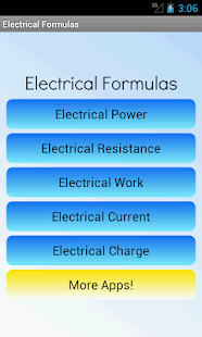 Electrical Formulas - screenshot thumbnail