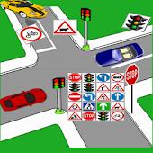 Traffic Signs Match Race Kids