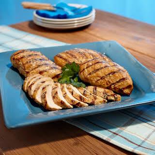 Grilled Juicy Parmesan Chicken.