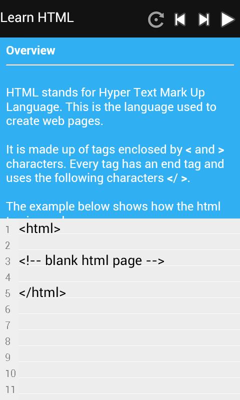 HTML and CSS Tutorial - screenshot