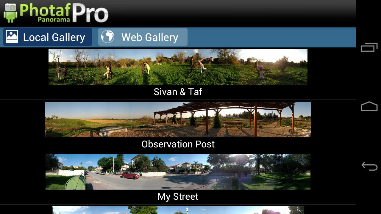 Photaf Panorama Pro Screenshot 1