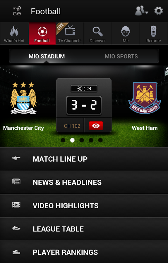 mio TV GO - screenshot