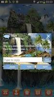 Screenshot of GO SMS Pro Theme tropical