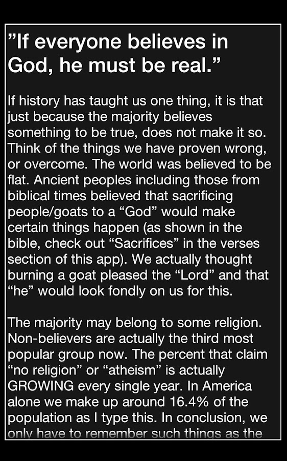 Android Atheist - screenshot