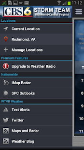 WTVR CBS 6 Storm Center - screenshot thumbnail