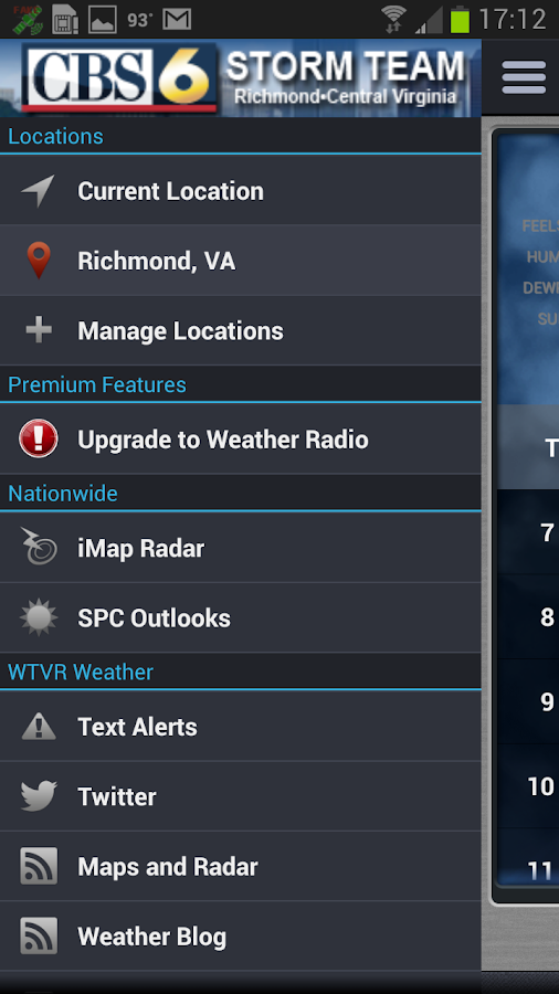 WTVR CBS 6 Storm Center - screenshot