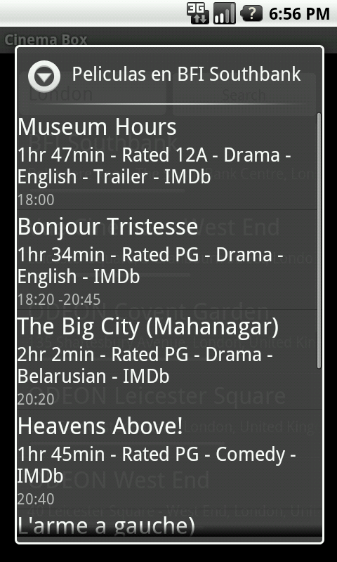 Cinema Box- screenshot