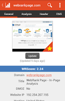 Screenshot of WebRank SEO
