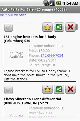 Auto Parts For Sale - screenshot