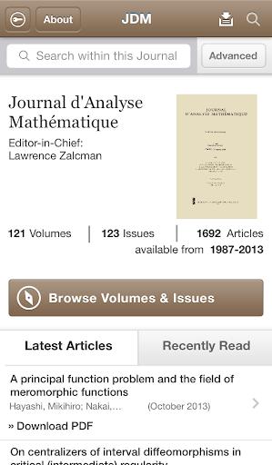 Journal D'Analyse Mathematique