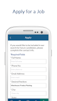 Screenshot of Job Finder from Select Family
