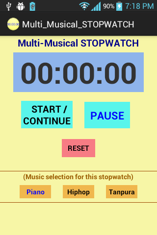 Multi-Musical STOPWATCH