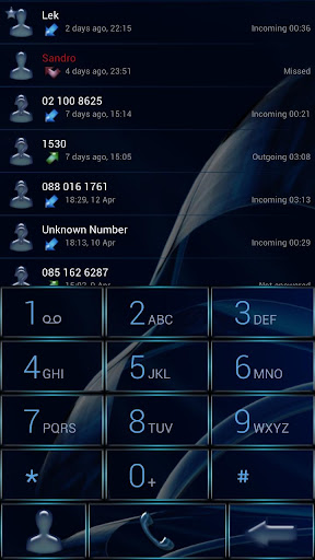 Dialer MetalGate Blue Theme