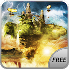 Fly Island Free 3D LWP icon