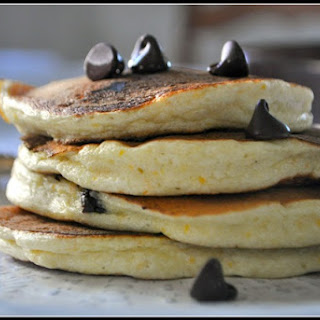 Orange Scented Ricotta Pancakes with Chocolate Chips