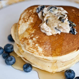 Pancakes With Blueberry Butter.