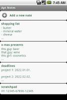 Screenshot of Apt Notes