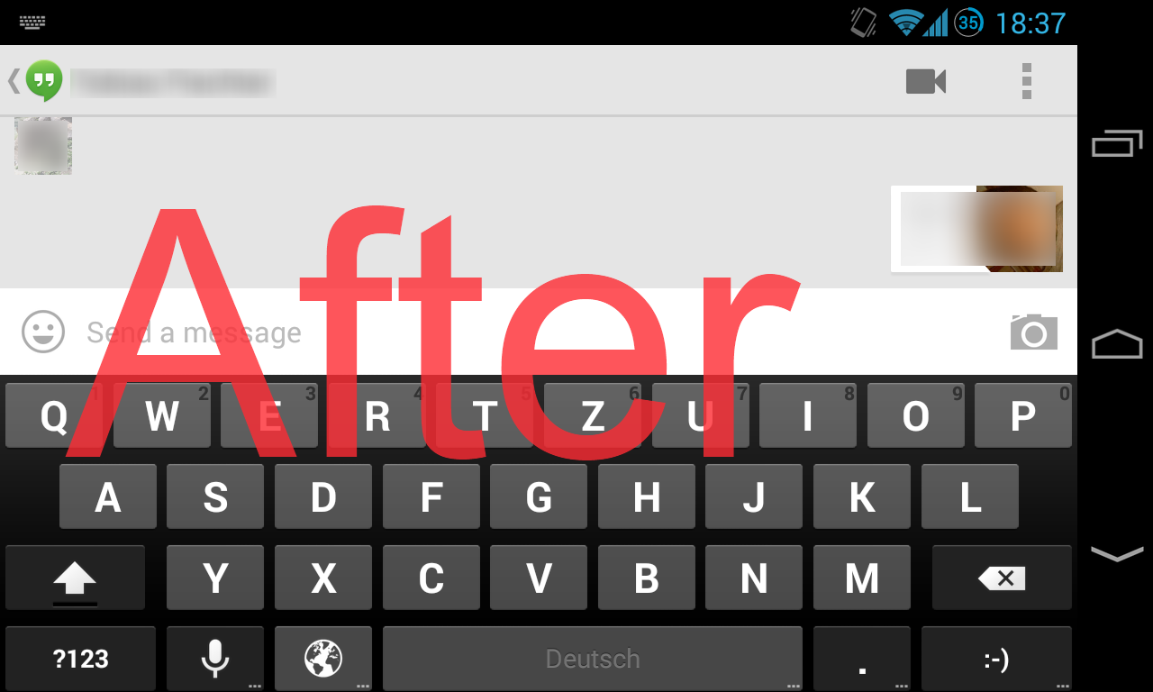 No Fullscreen Keyboard Xposed- screenshot