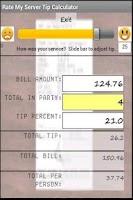 Screenshot of Rate My Server Tip Calculator