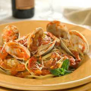 Linguine With Spicy Red Clam Sauce.