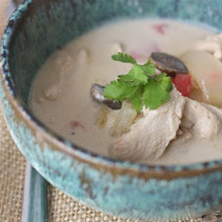 Tom Kha Gai {Thai Coconut Soup}