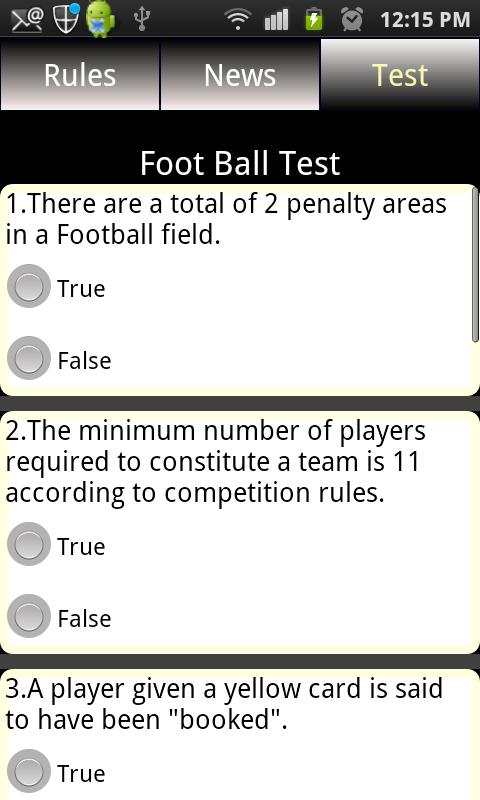 Sports Rules & News Free - screenshot