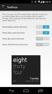 TextFace for Android Wear - screenshot thumbnail
