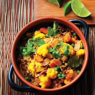 Indian-Style Lentil & Cauliflower Biryani