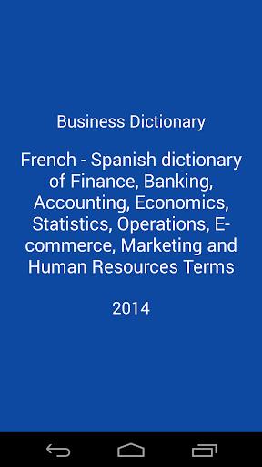 Dictionnaire d'affaires Fr-Es