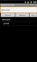 Screenshot of Albanian German Dictionary