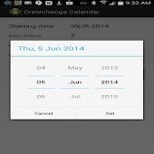 Crew Change Calendar