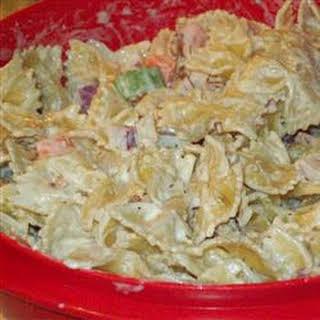 Ranch, Bacon, and Parmesan Pasta Salad.