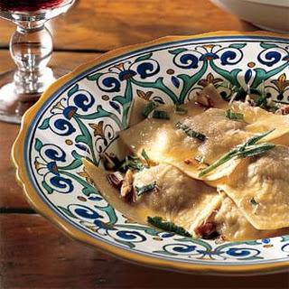 Nettle Ravioli with Butter and Sage (Ravioli all'Ortica con Burro e Salvia)