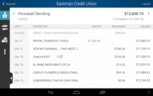 Eastman Credit Union Mobile - screenshot thumbnail