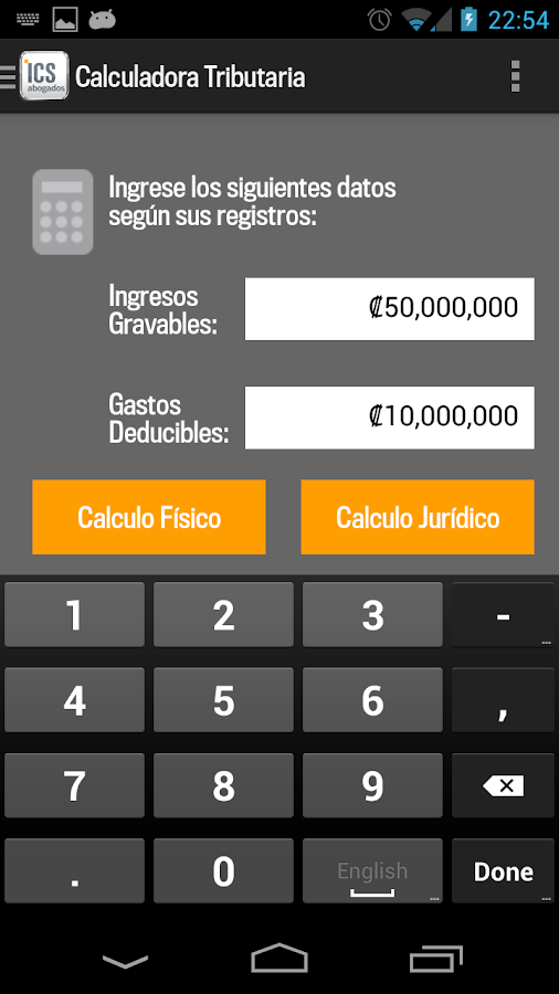 ICS Tax- screenshot