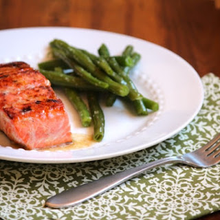 Honey Glazed Salmon with Brown Butter Lime Sauce.