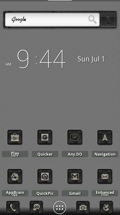 ADW Theme BlackBrushedCarbon - screenshot