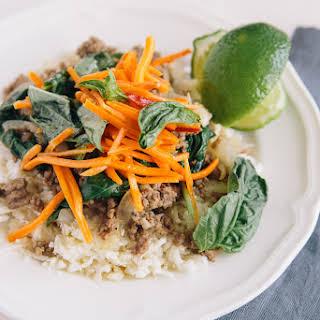 Thai Beef with Basil (Paleo, Gluten Free, Dairy Free).