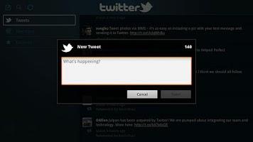 Screenshot of Twitter for Google TV