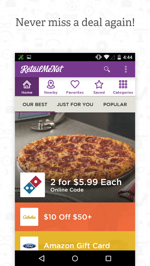 RetailMeNot Coupons - screenshot