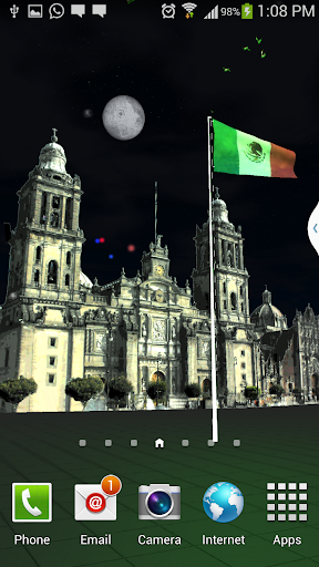 Mexico Flag livewallpaper 3dhd
