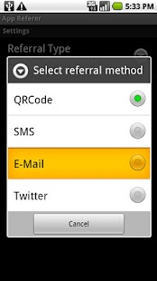 App Referrer- screenshot thumbnail